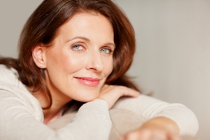 Portrait of a smiling beautiful mature lady